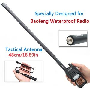 Image 1 - SMA Female Dual Band 144/430Mhz Foldable CS Tactical Antenna For Baofeng UV 9R Plus GT3WP PLUS UV9R Walkie Talkie