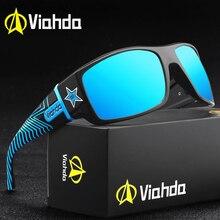 VIAHDA แว่นตากันแดด Polarized Sport แว่นตากันแดดแฟชั่นผู้ชายผู้หญิงดวงอาทิตย์แว่นตาเดินทางชายหญิงสีสแควร์