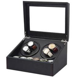 Высококачественная Автоматическая наматывающая коробка для часов 6 + 4 коробки, скользящая коробка для двигателя, чехлы для часов, ящик для х...
