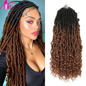 Alibaby Hair Goddess Nu Locs Crochet Natural Curly Dreadlocks Ombre Faux Braids 20