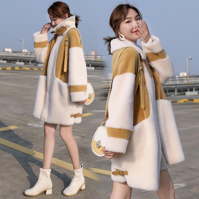 2020 Fashion Faux Fur Coat Autumn Winter Women Casual Warm Long Faux Lamb Fur Pocket Winter Coat Women Fur Jacket Teddy Coat
