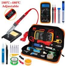 Handskit Temperatur Elektrische Lötkolben Kit 110V 220V 80W Lötkolben kit Mit Multimeter Schweißen Tool Kits