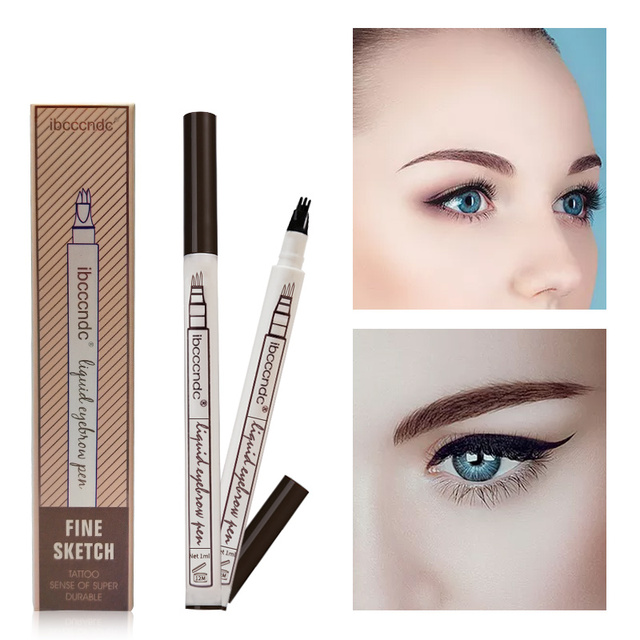 Microblading Eyebrow Tattoo Pen Fine Sketch Liquid Eyebrow Pen Waterproof Tattoo Eye Brow Pencil Smudge-proof Dropshipping 5