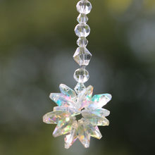 1PCS Clear Glass Crystal Starburst Prism Rainbow Maker Chakra Hanging Suncatcher Window Ornaments(China)