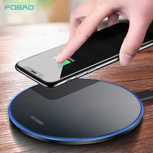 FDGAO 15W Qi Wireless Charger for iPhone 12 11 Pro Xs XR X 8 Induction Fast Charging Pad for Samsung S20 S10 Huawei Xiaomi 10 9