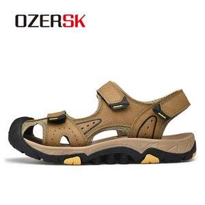 Image 2 - OZERSK, novedad de verano, sandalias para hombre, zapatos de verano a la moda, sandalias casuales transpirables impermeables, zapatos para caminar en la playa, talla 38 ~ 46