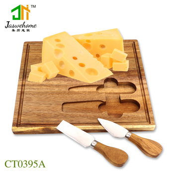 Jaswehome New Cheese Board Sets Cheese Knife And Cheese Board 3pcs Cheese Tools Set Wooden Kitchen Accessories