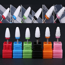 1pcs White Nail Drill Bits Bullet Type Electric Ceramic Grinding Head Accessories Sanding Tools BIT