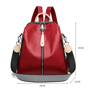 Image 4 - Fashion Backpack Women Soft Leather Backpack Female White High Quality Travel Back Pack School Backpacks for Girls Sac A Dos Hot