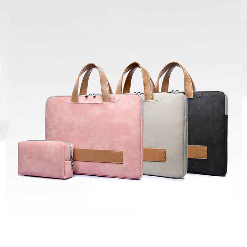 Office Bags For Men 2019 New 15.6-inch Briefcase Bussiness Bag PU Leather Waterproof Office Bags For Women Maletin Mujer