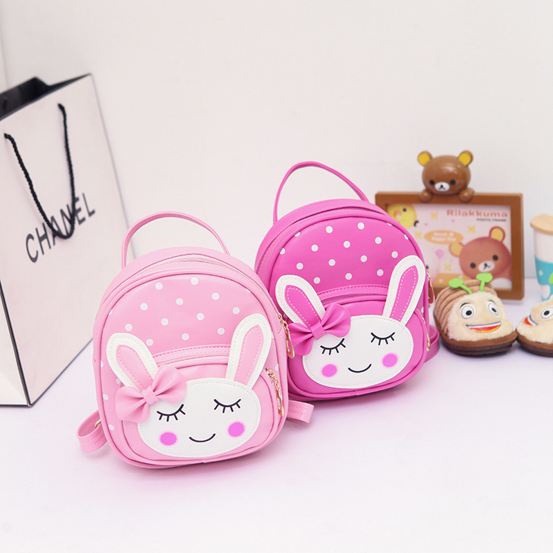 Children Korean-style Fashion Mini Backpack Princess Kids Girls Cute Leather Backpack GIRL'S Fashion Casual Bag