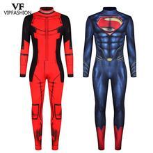 Costumes Cosplay pour hommes, Costumes Cosplay Deadpool, combinaisons musculaires de Super héros, Costumes imprimés de Superman, comics Zentai