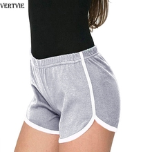 VERTVIE Women Sport Fitness Yoga Shorts Side Striped Biker Shorts Ladies Sport Running Exercise Jogging Shorts Beach Underpants