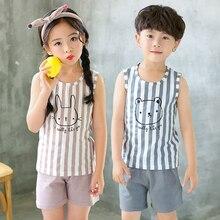 Kids Clothes Summer Children Pajamas Sets Baby Girls Boys Ca