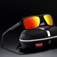 BARCUR Sports Eyewear Square sun glasses for Men Sports Sunglasses Women Oculos de sol fashionable wood sunglasses men reflective sports sun glasses outdoors square eyewear gafas de sol oculos de sol feminino