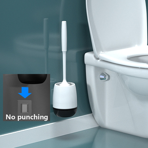 Image 3 - IFun トイレブラシ & ヘッドホルダートイレ壁掛けため家庭用床洗浄浴室クリーニングツール