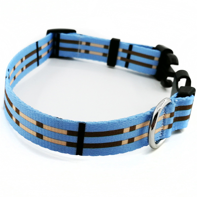 Hot Selling Nylon Printed Pet Collar Dog Collar Dog Neck Ring Pet Traction Rope