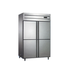 4 drzwi 2 temperatura 2 ~ 8-12 ~-18 pionowa zimna zamrażarka lodówka szafka kuchenna gabloty zamrażarka ze stali nierdzewnej