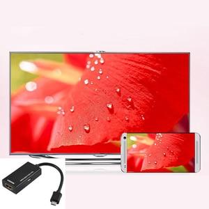 Image 2 - ביצועים גבוהים מיקרו HDMI USB כדי HDMI HDTV מתאם כבל HD Hub עבור HDTV אודיו כבל עבור LG HTC Samsung HML טלפונים ניידים