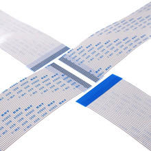 100 sztuk elastyczny kabel płaski 34 PIN różne kończy się FFC 1.0mm długość skoku 60 70 80 100 120 150 200 250 300 400 450 500 600 700mm