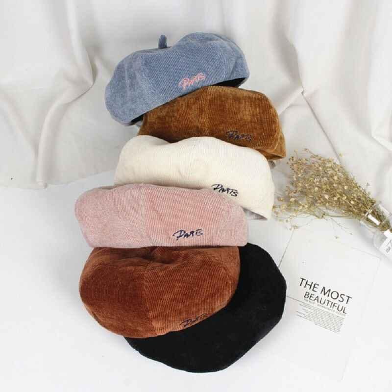 Детский Теплый вельветовый Берет шапочка унисекс для девочек, шапка, подарок во французском стиле