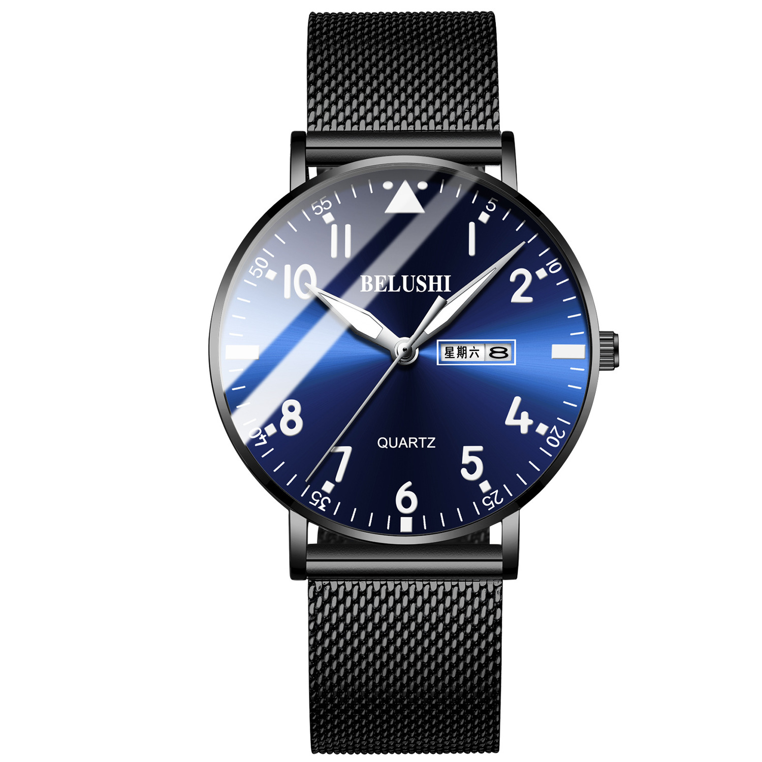Watch Male Business Affairs Leisure Time Quartz Watch Waterproof Male Surface
