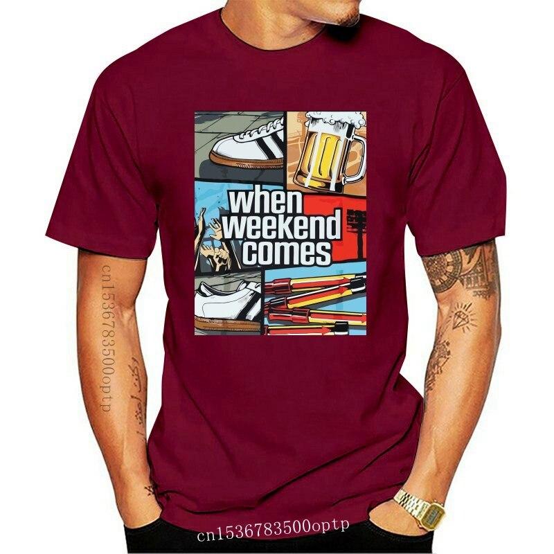 מבצעים חמים אופנה גברים קלאסי חולצות T חולצות אוהדי מכירה לוהטת משם ימים Awaydays למעלה חוליגנים מותג טי חולצה