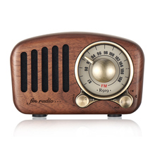 Retro Wood FM SD MP3 Radio Bluetooth5.0 Speaker Vintage portable Radio With Old fashioned Classic Style Strong Bass Enhancement
