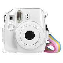 Camera Clear Hard PVC Case Cover with Strap for Fujifilm Instax Mini 9/8/8+ B88(China)