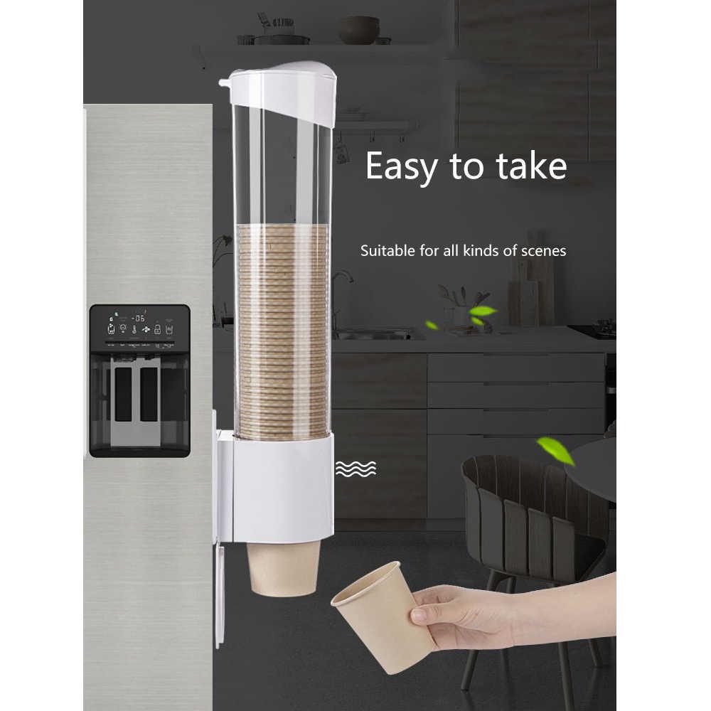 Pull Type Cups Dispenser Disposable Cup Holder Dispenser Rack Box