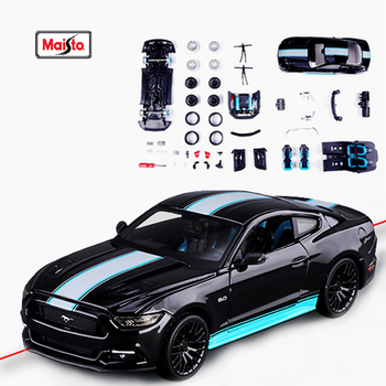 Maisto 1:24 Modified car 2015 Ford Mustang GT Assembled simulation alloy car model crafts decoration collection toy tools 1 18 ford mustang gt car diecast car model for gifts collection hobby