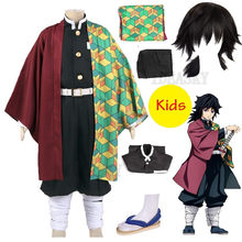 Anime Dämon Slayer: kimetsu keine Yaiba Cosplay Tomioka Giyuu Cosplay kinder jungen kind Kimetsu keine Yaiba Kostüm Perücke Tomioka Giyuu