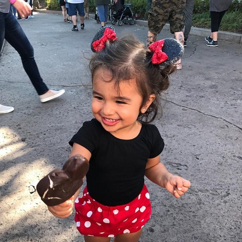 3.3'' Minnie Mouse Ears Barrette Christmas 3'' Sequin Hair Bows Minnie Glitter DIY Girls Hair Accessories Hair Clips For Women