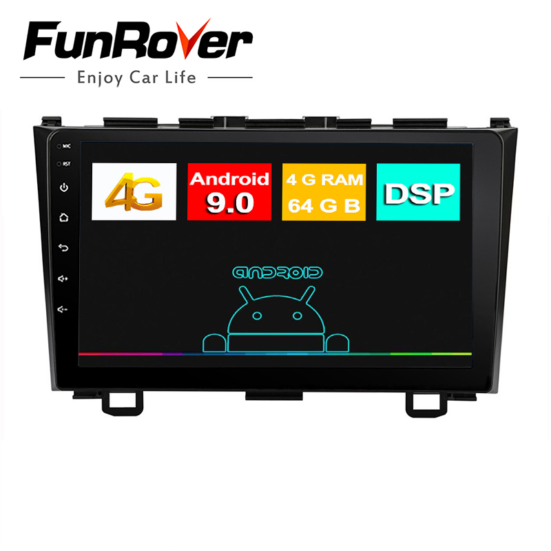 Funrover IPS 8cores Android 9.0 2 din Car Radio Multimedia dvd <font><b>gps</b></font> for <font><b>Honda</b></font> <font><b>CRV</b></font> CR-V 2006 <font><b>2007</b></font> 2008 2009 2010 2011 radio stereo image
