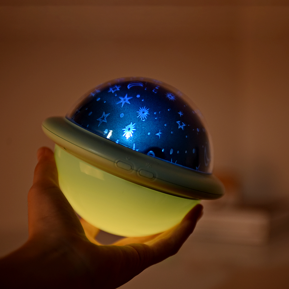 UFO Projection Lamp Starry Sky Ocean Universe LED Night Light USB Battery Powered Bedroom Bedside Lamp For Children Kids Baby