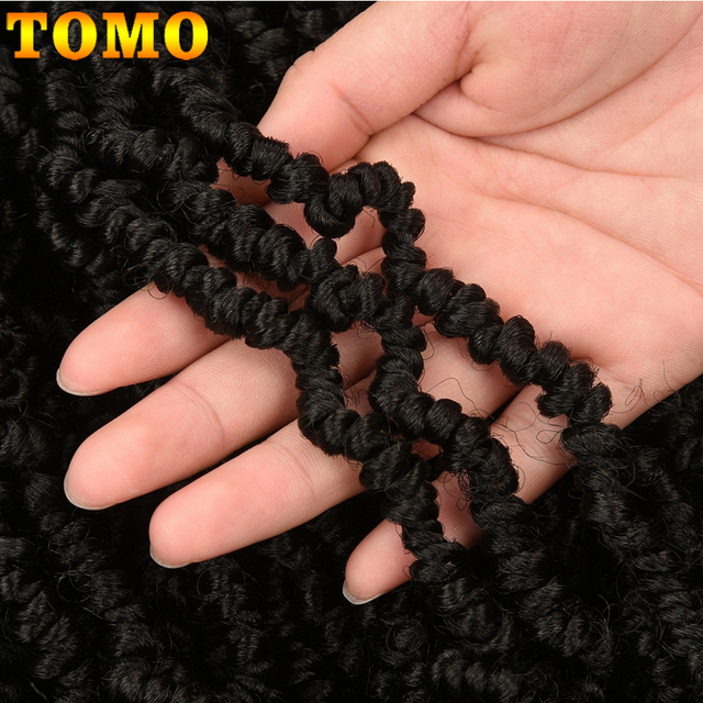 TOMO Bomb Twist Crochet Braids Pre-looped Passion Twist Crochet Hair Ombre Spring Twist Synthetic Braiding Hair Extensions 14 4