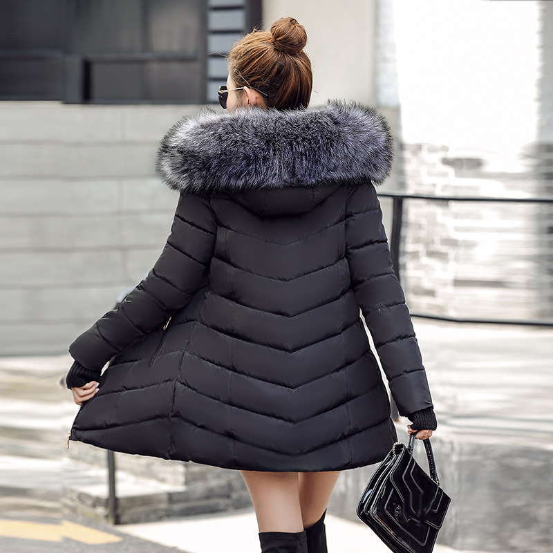 Closeout DealsFemale Jacket Winter Coats Woman Parkas Real-Raccoon Padded Fur-Collar Hooded Plus-Sizeç