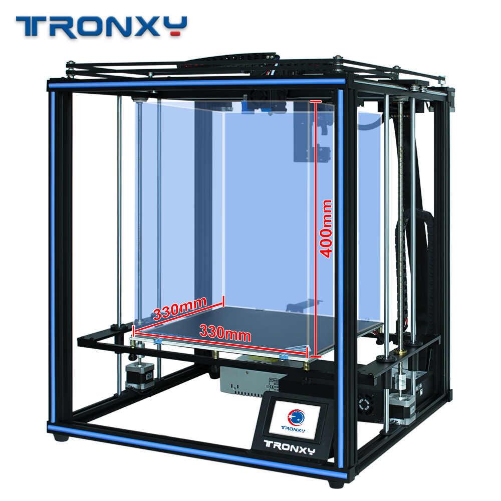 Tronxy X5SA برو 3D طابعة FDM الخطي دليل السكك الحديدية عالية الدقة تيتان الطارد 3D DIY كيت مستقرة اللوحة السيارات مستوى آلة