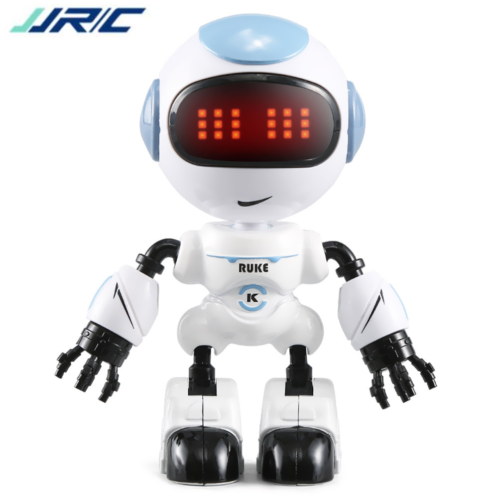 JJRC R8 Touch Sensing LED Eyes RC Robot Smart Voice Interaction DIY Body Gesture Model Toy with Automatic Power Saving Function