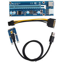 Mini extensor pci-e ao adaptador de riser do extensor do pci express16x com potência