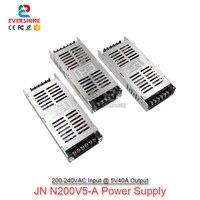 G-الطاقة N200V5-A سليم 5 فولت 40A 200 واط LED عرض امدادات الطاقة ، 30 مللي متر سمك دعم 220 فولت التيار المتناوب المدخلات الجهد