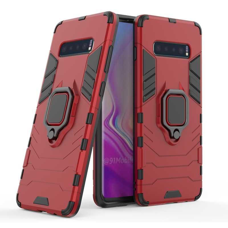 Due in uno antiurto anti-caduta PC + di TPU supporto magnete anello cassa del telefono per Samsung S 10 9 8 più Nota 10 Pro note9 copertura del telefono