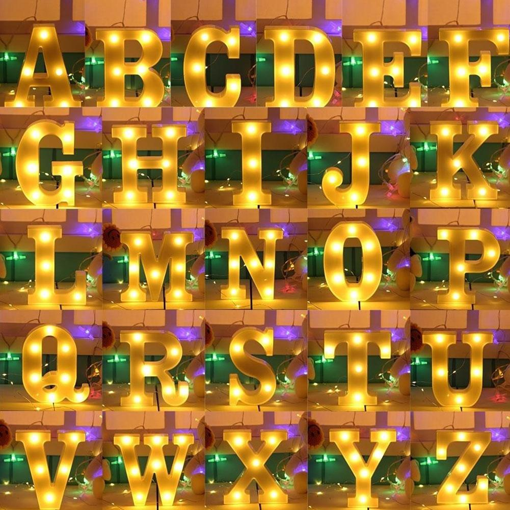 Yeelight Romantic 3D 26 Alphabets 0-9 Numbers LED Marquee Sign Wall Hanging Night Light