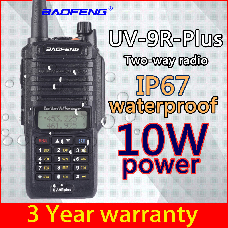 Baofeng 10w UV-9R Plus High-power Walkie-talkie For Two-way Radio 10km 4800mah UV 9R Plus Upgrade Waterproof IP67 Walkie-talkie