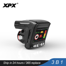 Buy Dash cam XPX G565-STR Car dvr 3 in 1 GPS Radar Dvr  Car DVR Car camera Full HD 1296P G-srnsor Video recorder with antiradar directly from merchant!