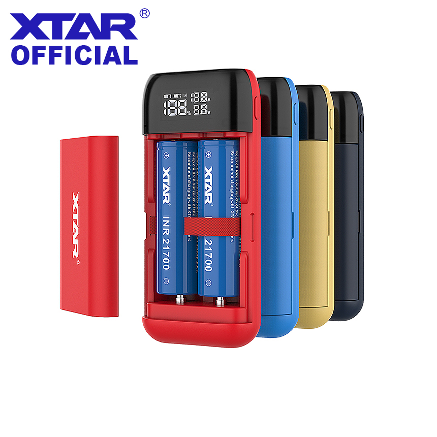 XTAR Charger BLACK PB2S Power Bank QC3 0 Fast Charging Type-C Input USB Charger 18700 20700 00 20700 21700 18650 Battery Charger