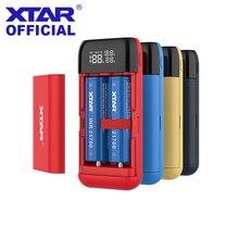 XTAR 충전기 검정색 PB2S 전원 은행 QC3.0 고속 충전 유형 C 입력 USB 충전기 18700 20700 00 20700 21700 18650 배터리 충전기