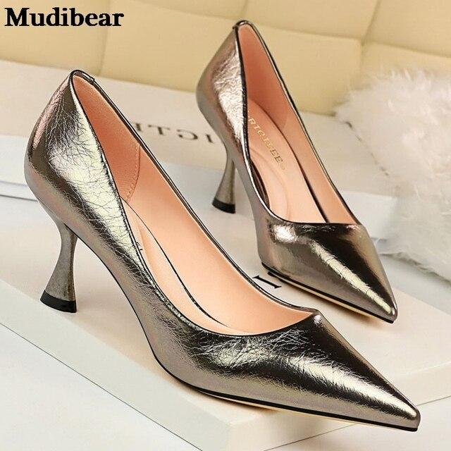 Фото туфли mudibear женские на высоком каблуке удобная свадебная цена