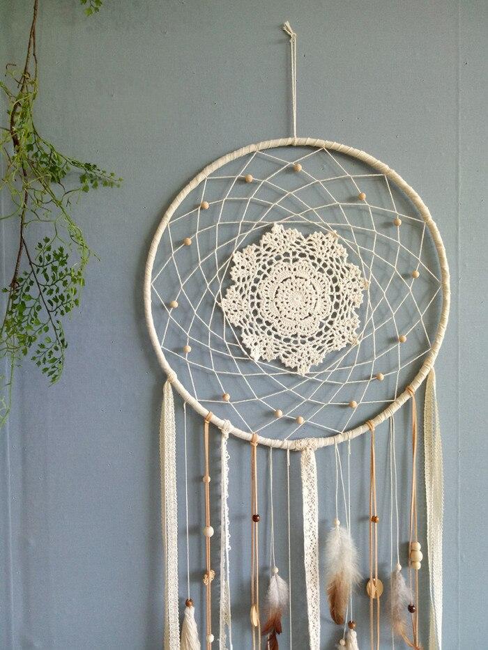 Один кусок ручной работы Ловец снов перо кисточки украшения стены свадебное украшение 40 см X 1,1 м - 4