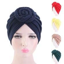 Turban uni à faire soi-même, couvre-tête musulman, écharpe, châle, casquette, bulle, harajuku